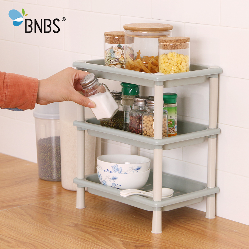 Us 10 56 34 Off Bnbs Multi Use Kitchen Sundry Storage Shelf Living Room Bathroom Desktop Mini Plastic Shelves Organizer Rack Save Space In Storage