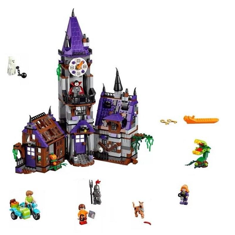 860Pcs Dog Cartoon Ghost House Model Mystery Building Blocks Bricks Set Compatible Legoings Halloween Gifts Toys For Children все цены