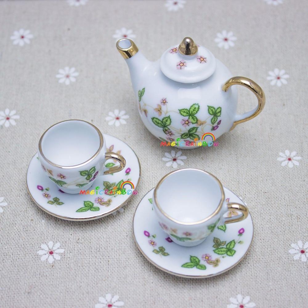 1:6 puppenhaus Miniaturen Küche Mini Keramik Miniatur Tee set für ...