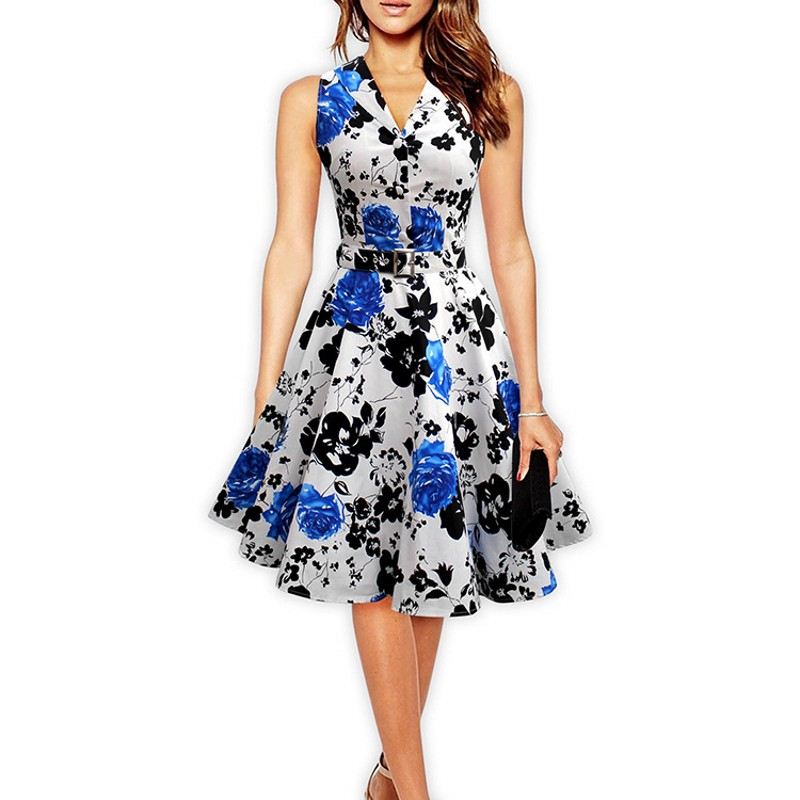 Floral Print Summer Dresses for Women