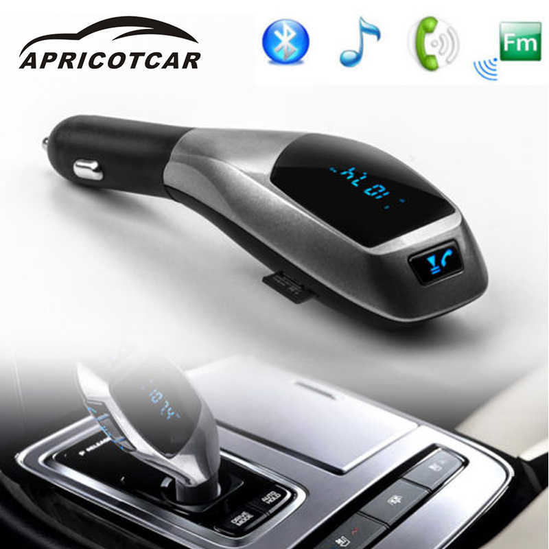APRICOTCAR Bluetooth Car MP3 Player Adapter FM Transmitter Modulator Car  Lighter TF Card USB Flash Drive Handsfree