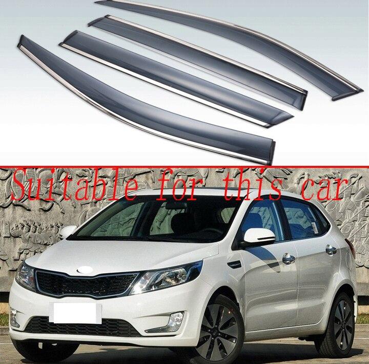 Genuine WINDOW RAIN vent SUN VISOR For Hyundai Elantra 2011-2015