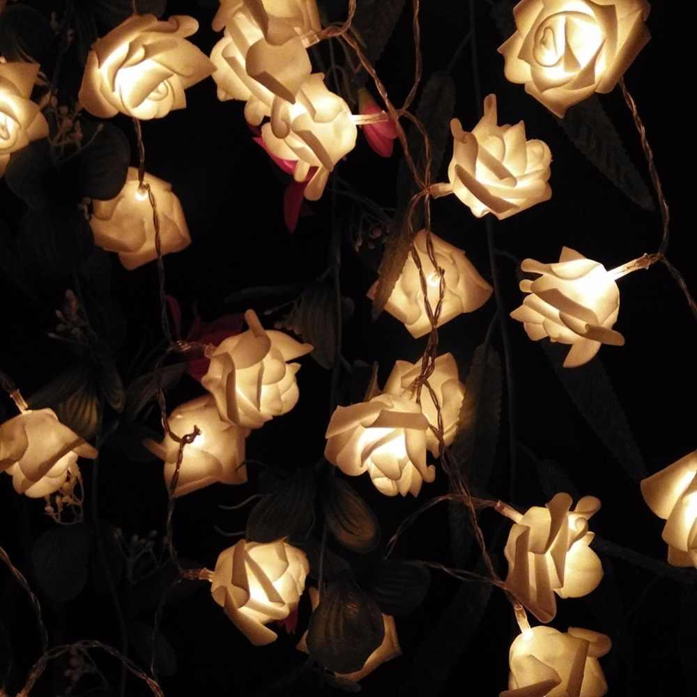 3 М 30LED Праздник Розы Цветочные Света Шнура СИД Батареи AA Событие Свадьба Украшения Освещения LED de Vacaciones Luces