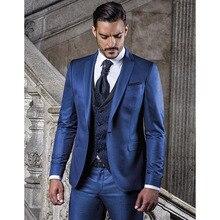 На заказ/голубого цвета свадебный мужской костюм смокинг homme Slim Fit Мужской Блейзер свадебные костюмы для жениха Мужская сценическая одежда