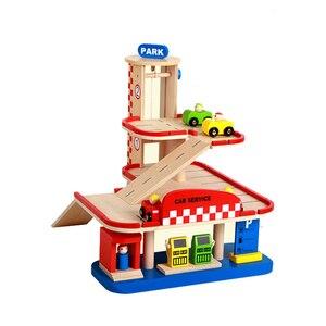 Image 4 - חשמלי רכבת מסלול סט מגנטי חינוכיים חריץ חיוניות רכבת עץ רכבת מסלול תחנת צעצוע מתנות לילדים