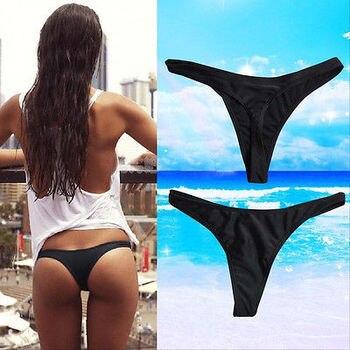 Women Brazilian Bikini Swimwear V Style Thong Cheeky Beach Bottom