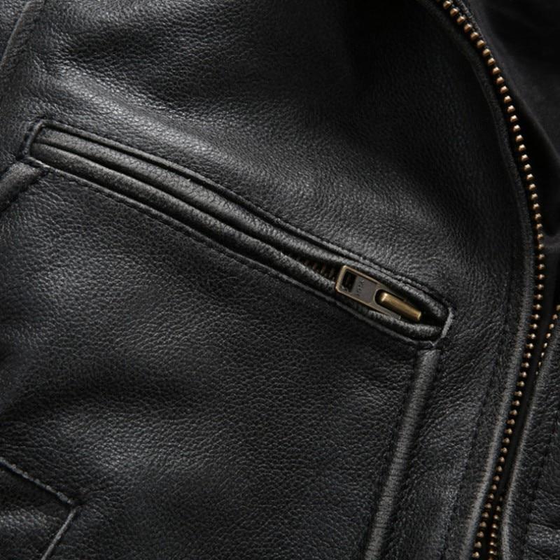 Novo Avirex Fly Prava usnjena jakna David Backham Style Obrni navzdol - Moška oblačila - Fotografija 6