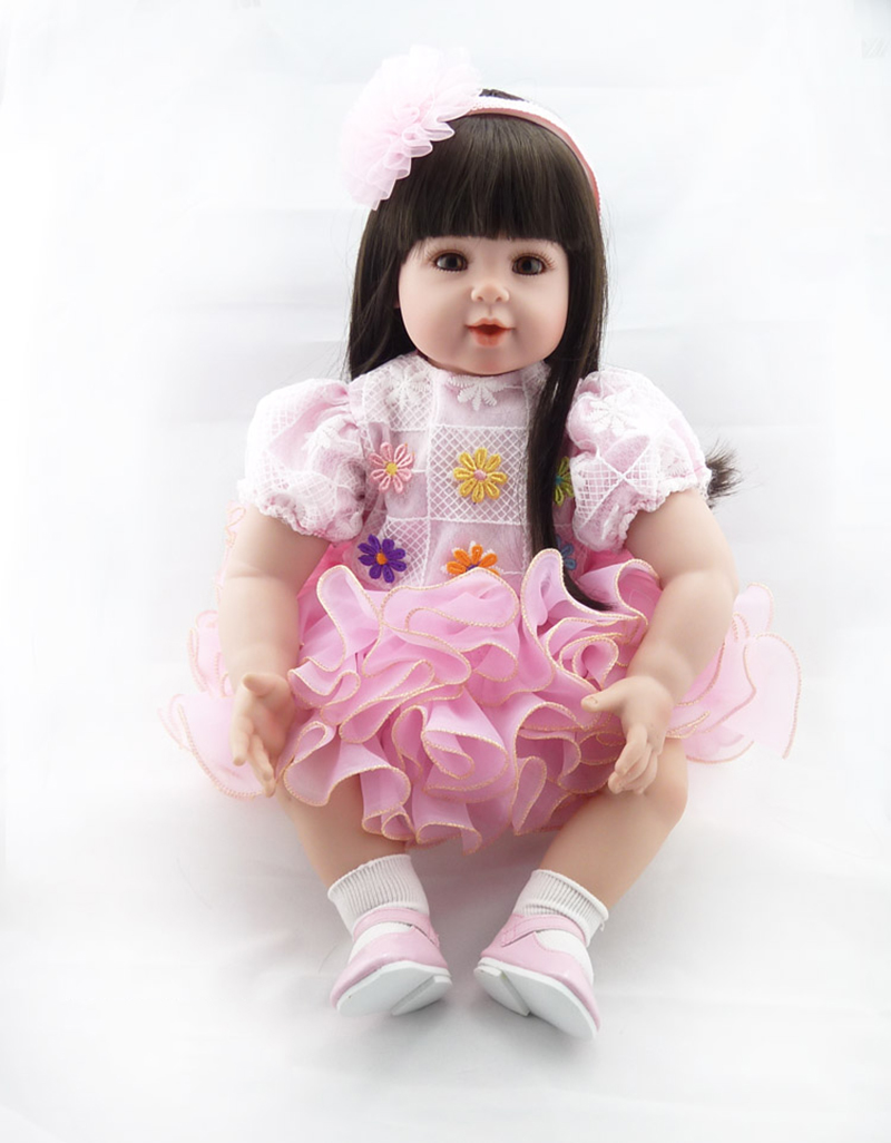 Pursue20/51cm Adorable Flower Fairy Princess With long Soft  Hair Silicone Reborn Bebe Cotton Body Vinyl Limbs Girls Best Gifts светильники trousselier абажур princess fairy 34х22 см