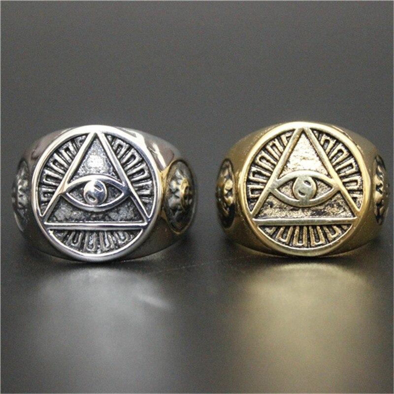 1 stück Neue Ankunft Goldene Silber Eye Ring 316L Edelstahl Mann Jungen Punk Stil Kühlen Ring