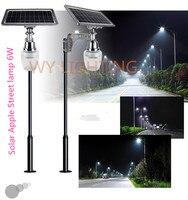 6W solar powered led street light with 10W solar panel/intergrated outdoor lighting garden light sensor yard path solar lamp