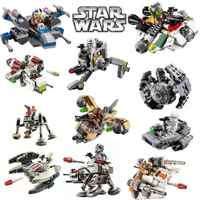 Star Wars Resistance X-Wing TIE Advanced Prototype Micro Fighters Starwars The Wookiee Gunboat Blocks Toys