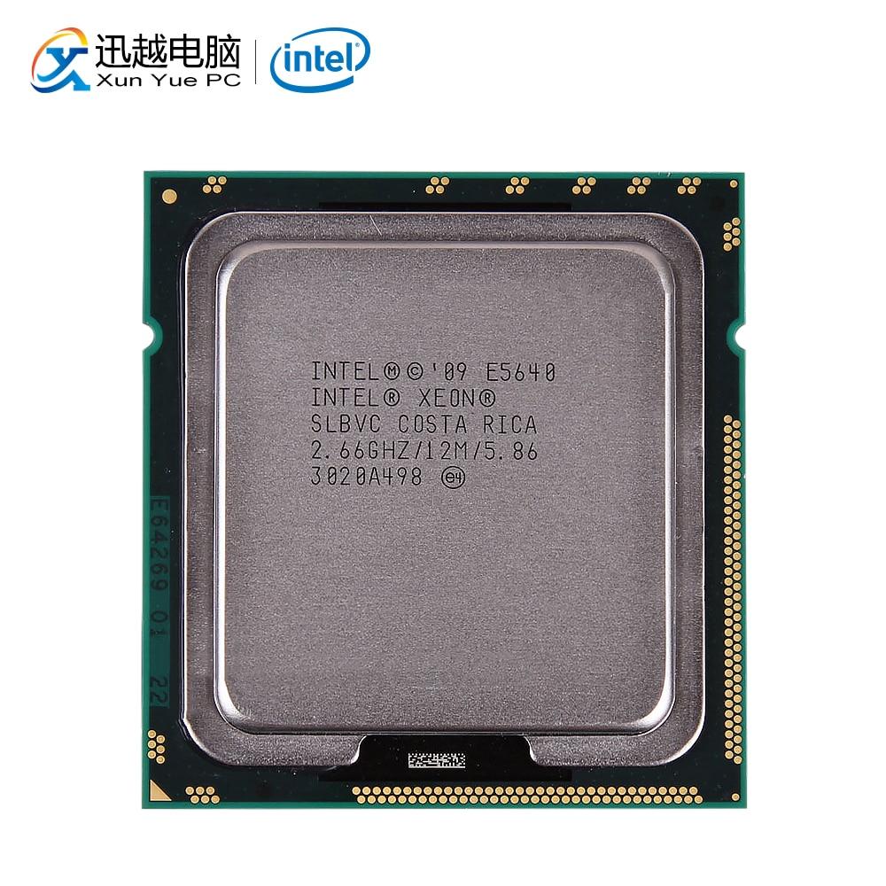 Intel Xeon E5640 Desktop Processor Quad-Core 2.66GHz L3 Cache 12MB 5.86 GT/s QPI LGA 1366 SLBVC 5640 Server Used CPU