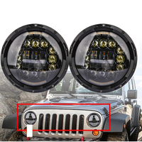 TNOOG 7 LED Headlight H4 Hi/low Auto Headlight With Angle Eye 7inch LED Halo Headlights For Jeep Puch Kenworth Nissan Suzuki