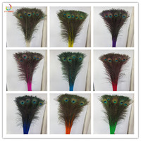 Top quality peacock feathers 500 Pcs/lot length 80 90 CM beautiful natural peacock feather Diy jewelry Decorative Deco fittings