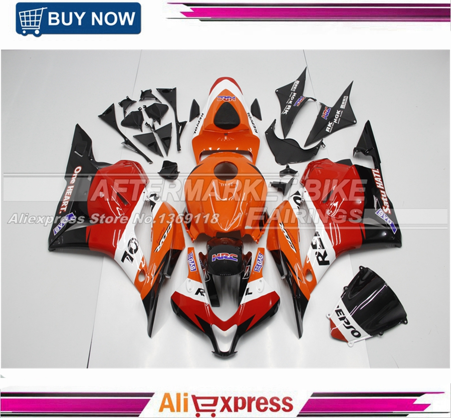 Full Fairings Fit Honda CBR600RR F5 09 10 11 12 2009 2010 2011 2012 ABS Motorcycle Motorbike Fairing Kit Cowling New Repsol