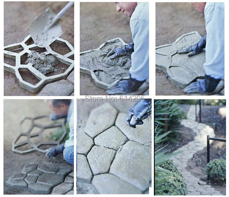 Тротуарная форма для изготовления дорожек для вашего сада формы для керамической плитки бетонные садовые формы