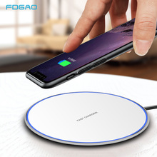 FDGAO 15W Fast Qi Wireless Charger For iphone X Xs Max XR 8 Plus Samsung S8 S9 S10 Xiaomi Mi 9 Quick 10W Charging Pad