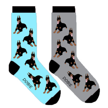 Dobie perro doberman pinscher mujeres calcetines 50 par/lote