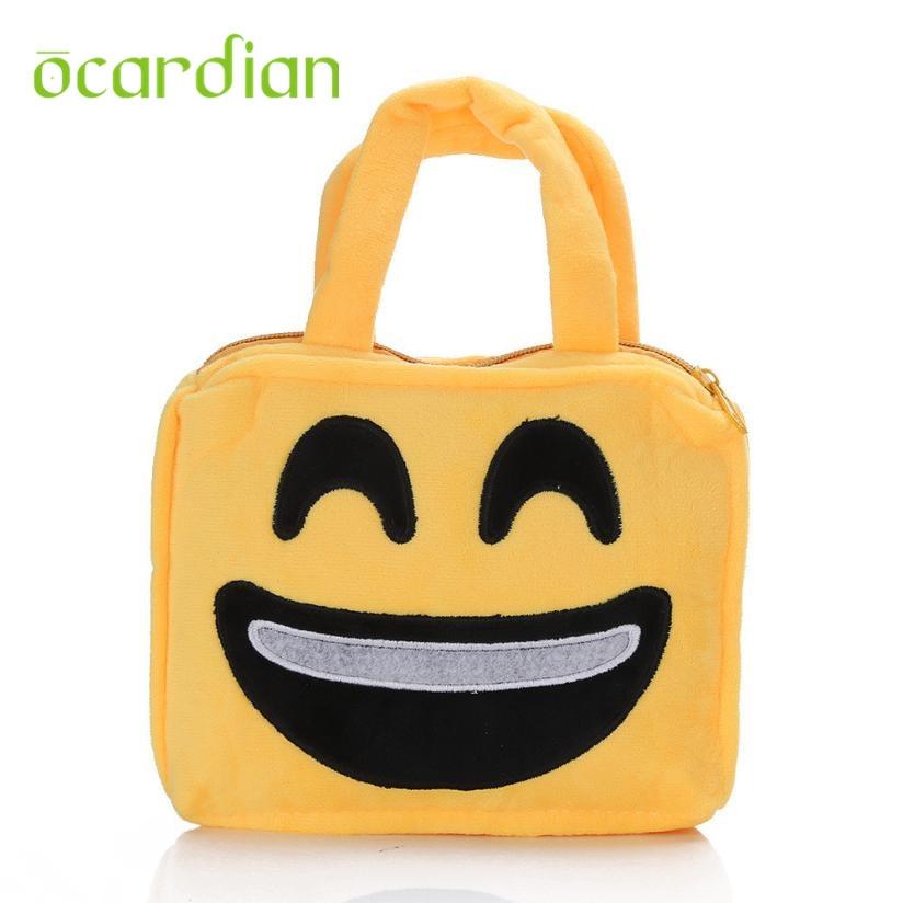 New Hot Cute Emoji Emoticon Shoulder School Child Bag Satchel Rucksack Handbag 17Mar13