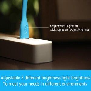 Image 5 - 2 pièces/lot Original Xiaomi USB lumière LED avec interrupteur 5 niveaux luminosité USB pour batterie dalimentation/ordinateur Portable Portable, lumières LED portables