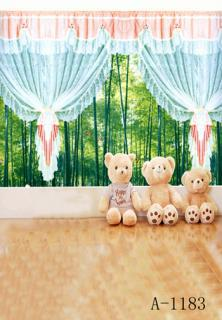 free shipping 10ft*10ft(3m*3m) beautiful curtains Digital Kids Studio photography background backdrop,computer printed backdrop ft f905