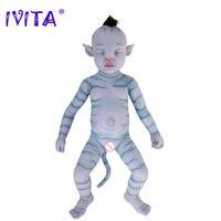 IVITA 63 см Reborn Младенцы силиконовые реборн куклы реалистичные мальчик ребенок живой Кукла Reborn Boneca нержавеющая сталь Скелет игрушки по мотивам