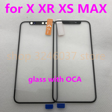 20pcs/lot Top Quality LCD Screen Front Glass Lens Prepaste and OCA Repair Parts for iPhone X Outer Replacement
