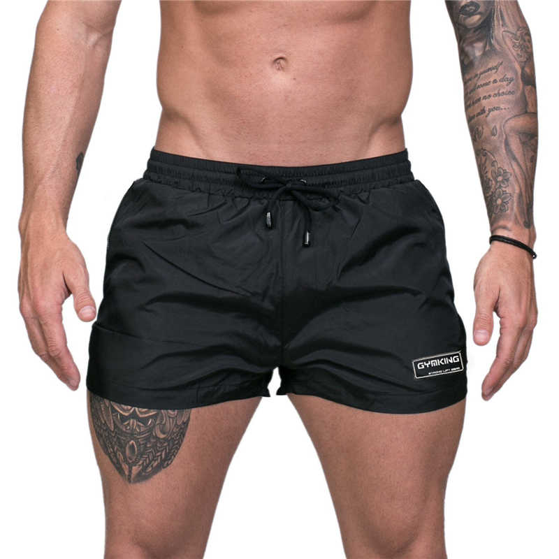 2019 gyms Summer men's shorts Triangulated mesh lining fast dry breathable fitness shorts men Sportswear Beach shorts