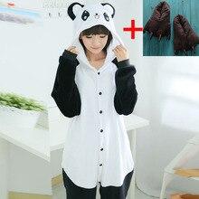 Adult Onesies Sleepwear Costume Jumpsuit Slippers Panda-Pajamas Animal Kids Kigurumi