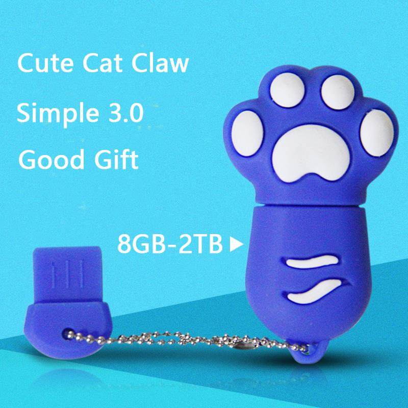 NEW Real Capacity Mini Cat Claw USB Flash Drive 512GB Memory Stick Pen Drive 64GB 128GB 16GB 32GB Usb 3.0 Stick Pendrive Gifts