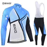 BXIO Winter Thermal Fleece Cycling Jersey Sets Ropa Ciclismo Pro Team Long Sleeve MTB Cycle Clothes Wear Sportswear BX-0109B043