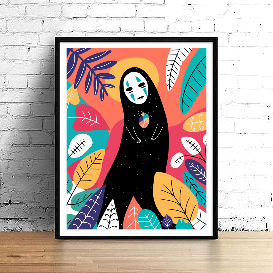Spirited Away Poster Nordic Bedroom Canvas Painting Pop Art Print No Face Posters Prints Room With Free Shipping Worldwide Weposters Com