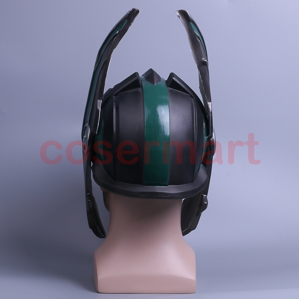 2017 Thor 3 Ragnarok Helmet Cosplay Thor Helmet PVC Mask Handmade Halloween Mask Caps New (6)
