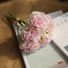 Fake Bouquet of Soft Colored Peonies for Wedding Decoration