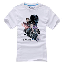 Mens Casual 2016 Movie X-Men: Apocalypse White T-shirts Cotton Short Sleeve Printing Pattern Tops Tee Shirts