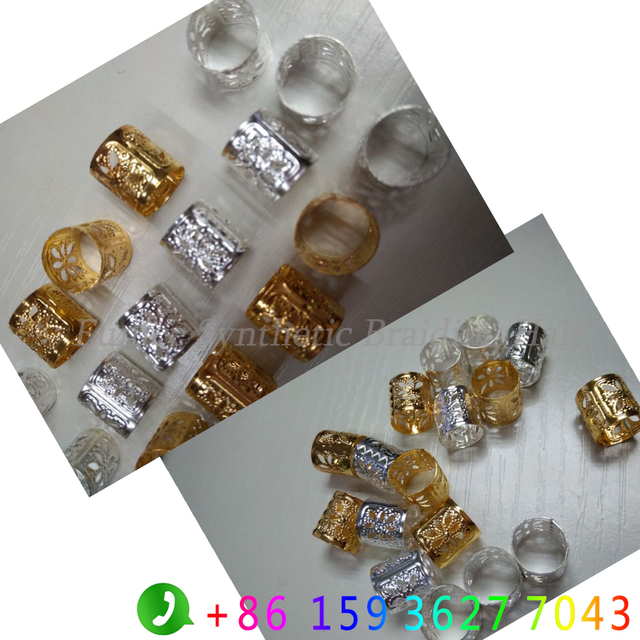 Professional Box Braid Hair Accessory Rings Hair Beads 1000pcs