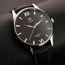 Yazole Brand Lujo Hombres Reloj de Cuarzo Famoso Hombre Reloj Deportivo de Cuero Relojes Vestido Reloj de Pulsera de Moda Casual de Negocios Barato