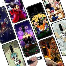 Cute Mickey Minnie mouse Black Soft Case for Oneplus 7 Pro 7 6T 6 Silicone TPU Phone Cases Cover Coque Shell