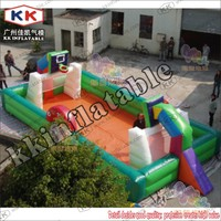 competitive price inflatable football field with basketball hoop sport games