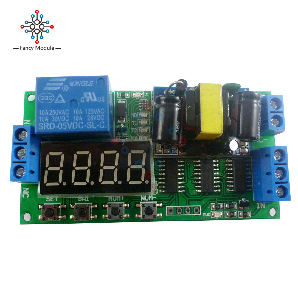 IO23B01 AC 110V 220V Converter Multifunction Self-lock Relay PLC Cycle Timer Module Delay Time SwitchIO23B01 AC 110V 220V Converter Multifunction Self-lock Relay PLC Cycle Timer Module Delay Time Switch