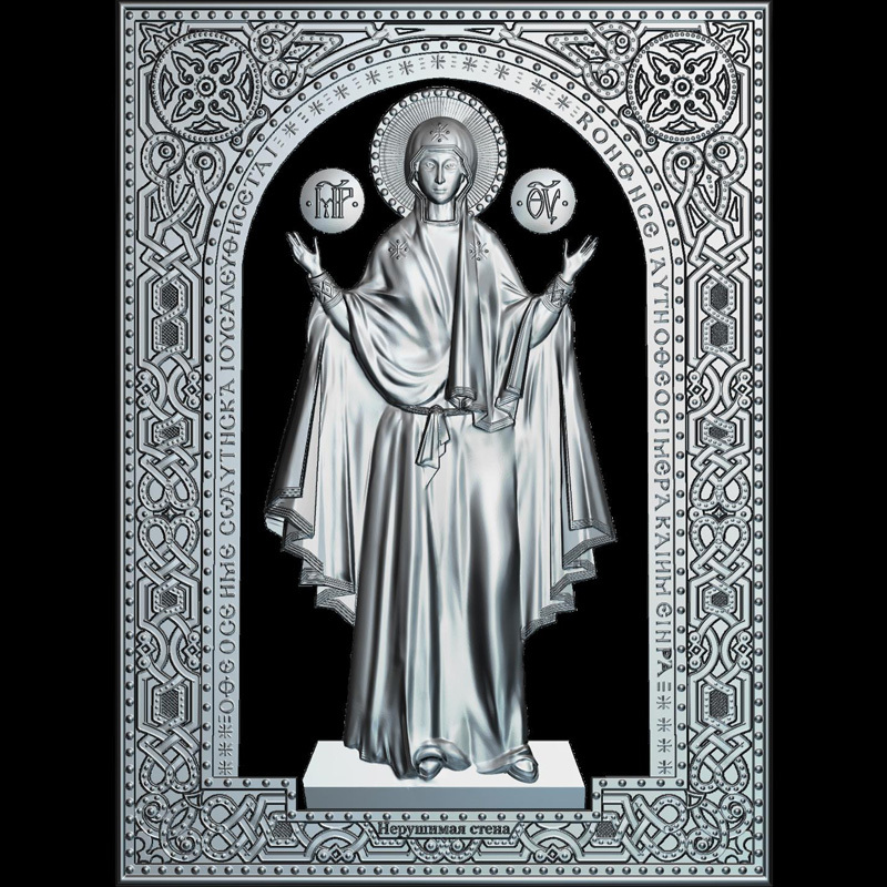 Theotokos (Mother Of God) 3d Model For Cnc STL Format Religion 3d Relief Model STL Router 3 Axis Engraver ArtCam