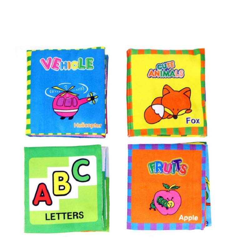 Cartoon Baby Early Education IQ Development Books Kids Read Training Toys Children Room Bed Decoration Toys