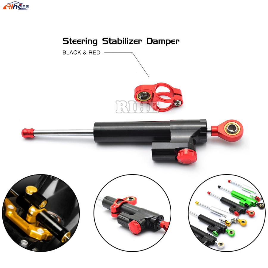 Steering Damper Universal Motorcycle CNC Stabilizer Linear Reversed Safety Control For yamaha fz6 r6 fz1 r1 ybr 125 r25 xj6 xjr 2015 brand new universal motorcycle cnc aluminum steering damper blue color stabilizer linear reversed safety control 5 colors