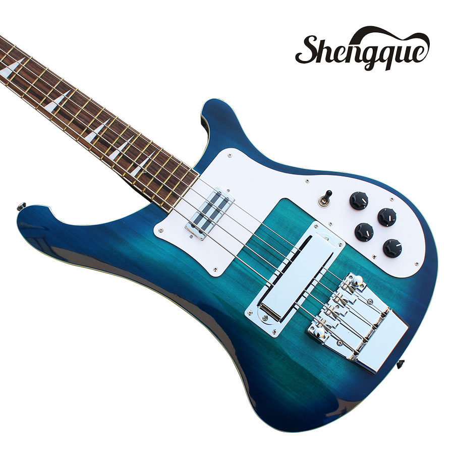 2018 shengque factory custom 4003 bass 4 strings guitar blue rickenback electric guitar musical. Black Bedroom Furniture Sets. Home Design Ideas