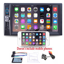 7 ''HD 2DIN Mobil Radio MP5 Pemain dengan Rear View Kamera Malam Visi Touch Screen Bluetooth Stereo Radio USB(China)