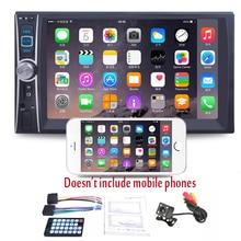 7'' HD 2 Din Car Radio MP5 Player  +170 Degrees Rear View Camera Night Vision Touch Screen Bluetooth Phone Link Stereo Radio USB цены онлайн
