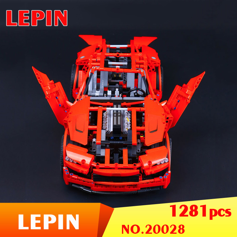 LEPIN 20028 1281PCS Technic series Super Car assembly toy car model DIY brick building block toy for boy kids gift toys 8070 in stock lepin 20028 1281pcs technic series super car assembly toy car model diy brick building block toy gift for boy gift 8070