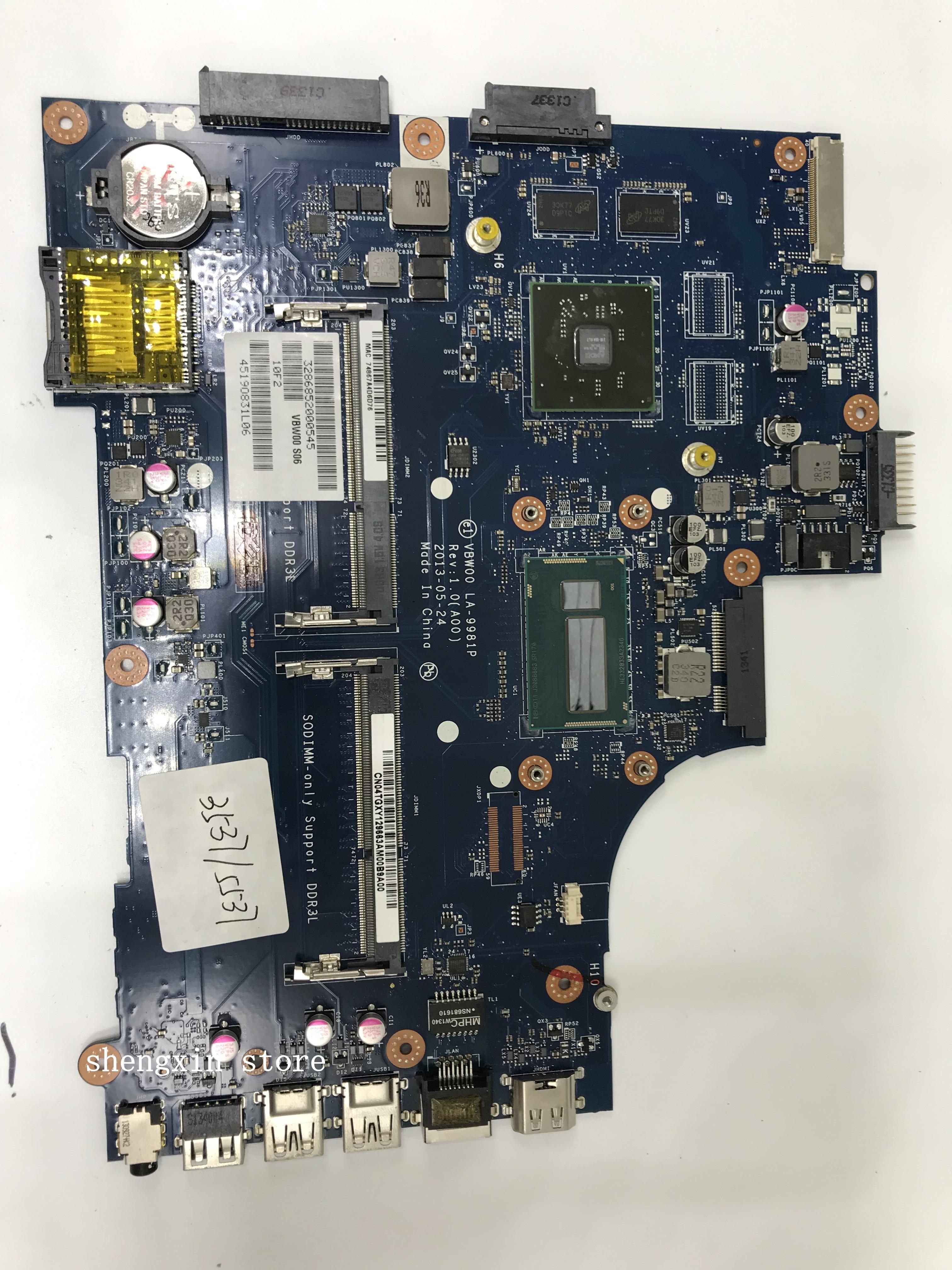 New Dell 5537 3537 VBW00 Motherboard PN MXM3Y 0MXM3Y with I5 4200 CPU LA-9981P