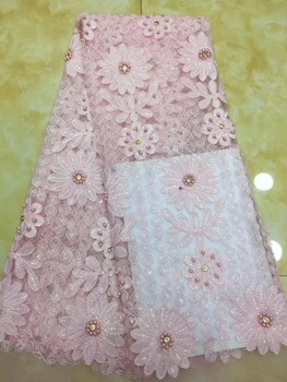 Latest diamond French Nigerian Laces Fabric High Quality Tulle African Laces Fabric Wedding African French Tulle Lace   DPDE202