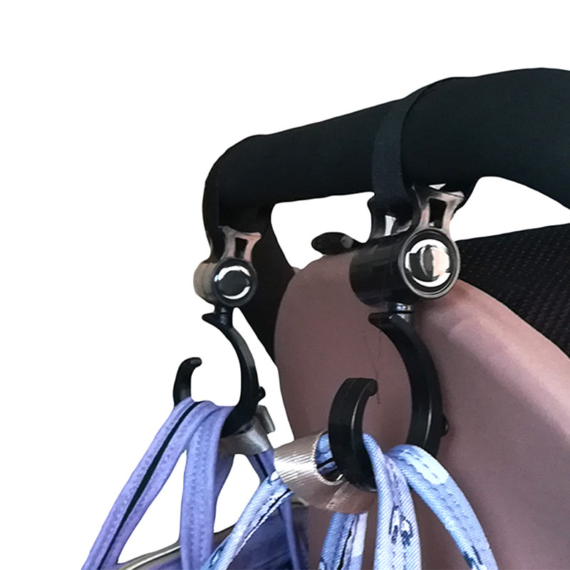 New 2 Pcs Baby Stroller Accessories Hooks Multifunction Baby Stroller Plastic Hook